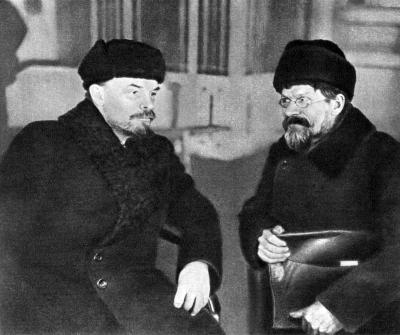 В.И.Ленин и М.И.Калинин в Доме Союзов height=335