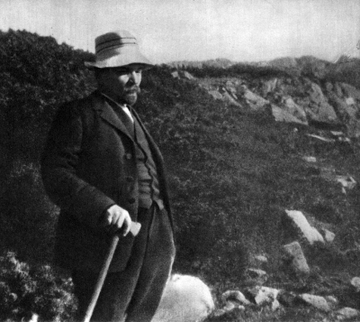 В.И.Ленин на прогулке в горах в окрестностях Закопане height=357