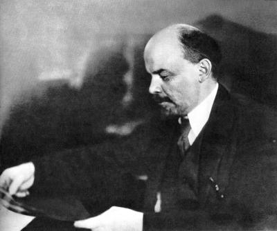 Ленин В.И. 1918 г., январь. Петроград. height=335