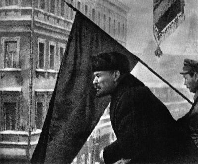 В.И.Ленин выступает с приветствием бойцам, отправляющимся на борьбу с Деникиным height=331