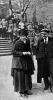 В.И.Ленин, Н.К.Крупская, М.И.Ульянова и В.М.Загорский на параде войск Всевобуча
