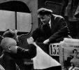 В.И.Ленин перед отъездом с Красной площади прощается с участником парада войск Всевобуча