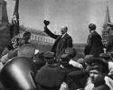 В.И.Ленин произносит речь перед войсками Всевобуча