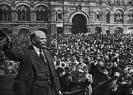 В.И.Ленин произносит речь перед войсками Всевобуча на Красной площади