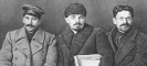 И.В. Сталин, В.И. Ленин и М.И. Калинин на VIII съезде РКП(б).