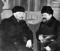 В.И.Ленин и М.И.Калинин в Доме Союзов