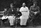 В.И.Ленин, Н.К.Крупская и А.И.Елизарова в Горках
